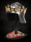 King Richard The Lionheart Helmet And Stand - Officially Licensed